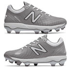 New Balance Grey / White Men's Molded Baseball Cleats PL4040v5 Low Cleat