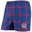 Chicago Cubs Concepts Sport Homestretch Flannel Boxer Shorts - Royal on Ebay