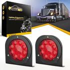"""LED Truck/Trailer Tail Lights with Steel Brackets-Waterproof DC12 Red 12LED 4"""""""