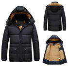 L-3XL Men's Coat Hooded Fur Collar 5XL Jacket Cotton Coat Thicken Outdoor Yoooc