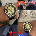 Men's Luxury Mechanical Retro Luminous Wrist Watches Fashion Diamond Display US