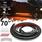 "70"" Car Truck Running Board LED Light Side door Step Pedal Turn Signal Strip"