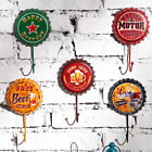 Creative Metal Beer Bottle Cap Sign Wall Hook Bar Pub Clue Decoration Code