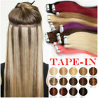 Invisible Glue Tape In Remy Human Hair Extensions Full Head Skin Weft 40Pieces W