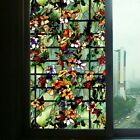 3D Static Cling Window Art Stained Camellia Glass Sticker Shading Home Decor US