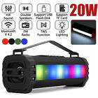 Portable LED bluetooth Speaker Wireless Stereo Super Bass Subwoofer TF Aux