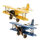Vintage Metal Biplane Airplane Model Plane Model Home Desk Decor Collection Us