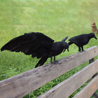 Halloween Artificial Feathered Crows Raven Model Party Props Yard Decor Code