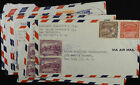 El Salvador 8 WWII Era Covers Air Mail to Orbis Products Letters See Pics