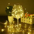30/50/100 LED Wire String Lights Fairy Xmas Party Decor Holiday Wedding Supplies