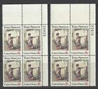 #1470 Tom Sawyer, 2 plate blocks, one with facial double impression