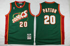 Men's Seattle SuperSonics NO.20 Gary Payton Basketball jersey Retro mesh Green on eBay