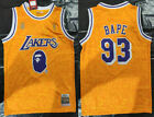 Los Angeles Lakers #93 Snoop Dogg Basketball jersey joint BAPE yellow on eBay