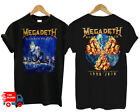 Peace Megadeth Rust T-Shirt So Metal Band Rock Shirt For Fan Shirt Black S-6XL image