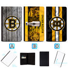 Boston Bruins Leather Passport Holder Cover Case Travel Wallet $7.99 USD on eBay