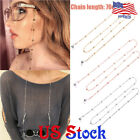 Round Bead Chain Hanging Neck Glasses Eyeglasses Holder Cord Strap Necklace US image