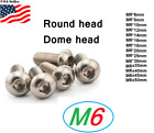 M6x1.0  Metric 6mm Up To 50mm Stainless Steel Button Hex Bolt Dome  Allen Screw