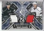 13/14 UD SPX JEFF CARTER / MIKE RICHARDS WINNING COMBOS DUAL GAME JERSEY