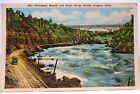 1934 POSTCARD WHIRLPOOL RAPIDS & GREAT GORGE ROUTE NIAGARA FALLS