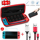 Accessories Travel Case Bag+Charging Cable+Screen Protector for Nintendo Switch