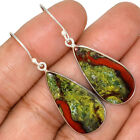 Dragon Blood Stone - South Africa 925 Sterling Silver Earrings Jewelry AE78189