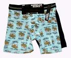 2 American Basics Blue SHAKESBEER Beer & Solid Black Performance Boxers Mn's NWT