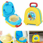 Kids Toilet Seat Baby Child Toddler Training Potty Portable Travel Yellow Pink image