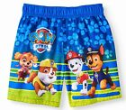 PAW PATROL UPF50 Bathing Suit Swim Trunks w/ Optional Rash Guard 2T 3T 4T or 5T