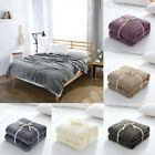 Microfiber Flannel Soft Throw Blanket for Couch Bedcover All-Season Home Decor image