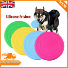 2X Pet Dog Training Soft Frisbee Throwing Flying Disc Frisby Fetch Silicone Toy