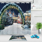 Christmas Market By Night In Coburg Germany Shower Curtain Hooks Waterproof Mat