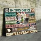 In This Office We Do Great Things We Are A Team Framed Canvas .75in 35% Cotton