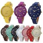 Women's Casual Quartz Leather Band Strap Watch Analog Round Wrist Watches Gift image