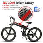 "Samebike 26"" Folding Electric Bike Power Assist Electric E-Bike 10A 350W 21Speed"