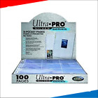 Ultra Pro - 9 Pocket Trading Card Pages - Silver Series (Yu-Gi-Oh! Pokemon MTG)