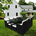 10 Seats Rattan Garden Furniture Cube Set Chairs Table Outdoor Patio