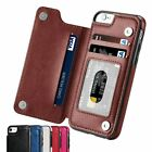iPhone Phone X Case Retro Faux Leather Flip Wallet Photo Holder Cover Accessory