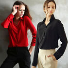 Women's Ladies OL Work Formal Chiffon Shirt Office Blouse Top Plus Size Code