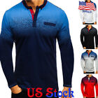 Men's 3D Printed Tops Long Sleeves Fashion Casual T-shirt Pullover Tee Blouse image