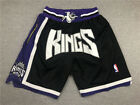 HOT Sacramento Kings Retro Mesh Black Basketball Shorts Size: S-XXL on eBay