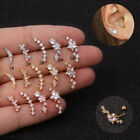 1pc Piercing Star Earring Helix Ear Cartilage Tragus 925 Silver Stud Jewellery