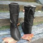 Men Medieval Viking Boots PU Leather Tall Boots Reenactment Cosplay Stage Shoes <br/> ❤ UK Stock❤Ship Fast ❤High Quality ❤ Easy Return