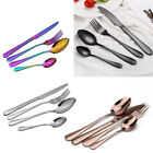 4/8/16/24 Piece Stainless Steel Fork Cutlery Sets Colorful Iridescent Tableware