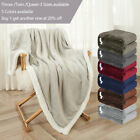 Sherpa Flannel Fleece Blanket Soft Plush Warm Thickened Bed Sofa Twin Queen image