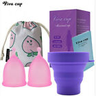 4in1 Women Reusable Menstrual Cup with Sterilize Cup & Storage Bag Menstruation