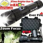 Powerful 900000Lumens XHP50 Zoom Flashlight LED USB Rechargeable Torch Headlamp