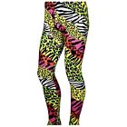 80's Heavy Metal GLAM ROCK NEON ZEBRA Pro Wrestler Macho Man Spandex Pants