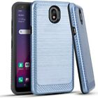 For LG Arena 2 LMX320APM / Escape Plus Lining Hybrid Case Cover + Tempered Glass