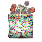 Squeeze Coin Purse PU Leather Wallet Coin Pouch Change Holder For Woman Girls image