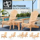 Gardeon Outdoor Chairs Table Set Beach Chair Lounge Patio Furniture Adirondack